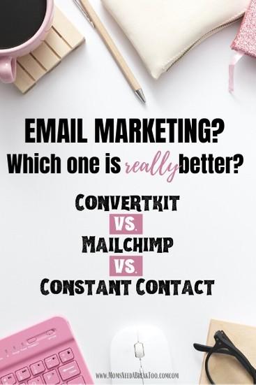 Email Marketing - Convertkit - Mailchimp - Mailerlite